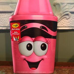 Crayola Brand New Art Kit 50 Plus Pieces Pink
